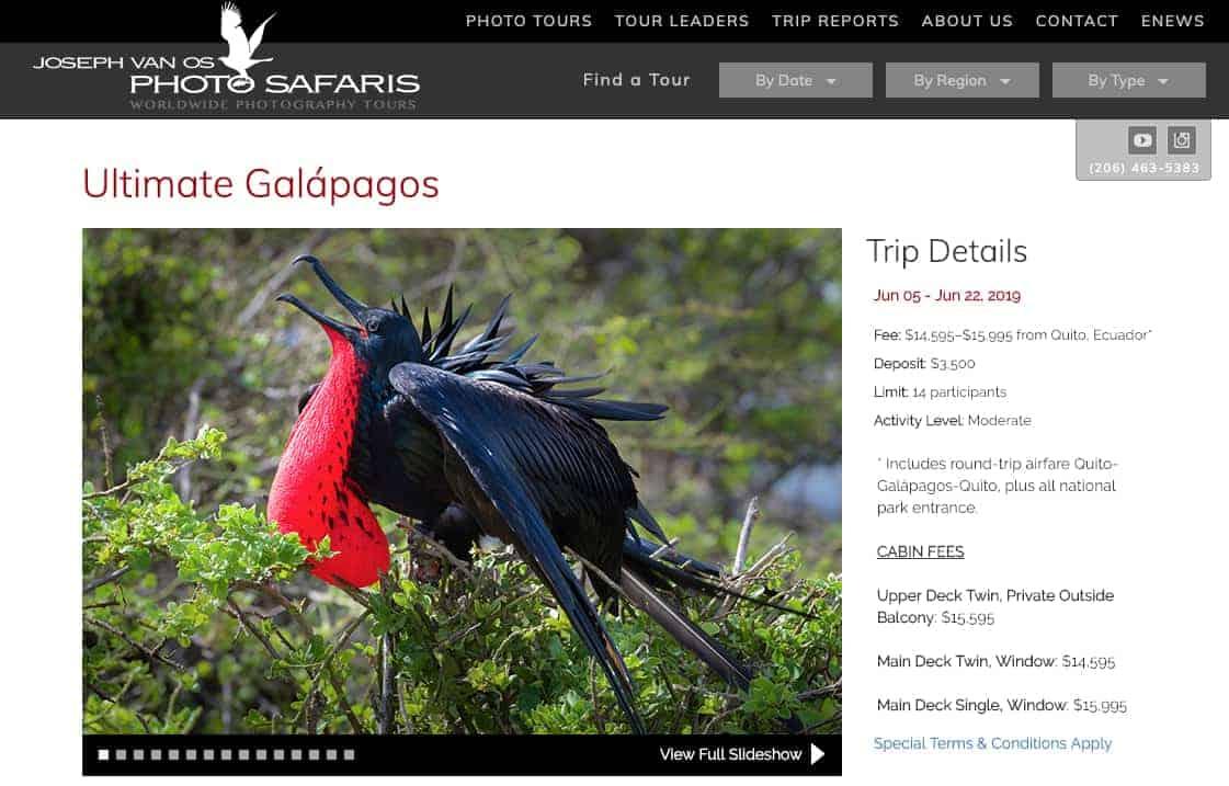 Ultimate Galápagos Photography Workshop-Trip with Joseph Van Os
