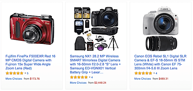 Amazon Warehouse Deals for Camera Gear