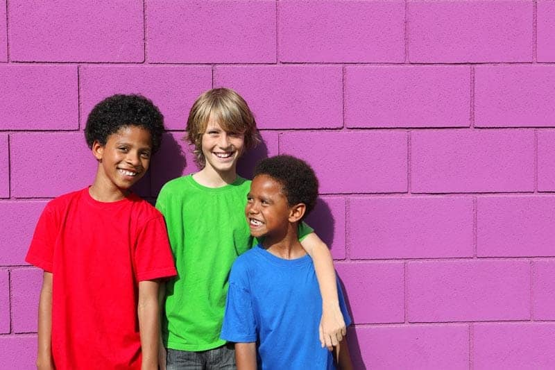 Diversity: Three young boys