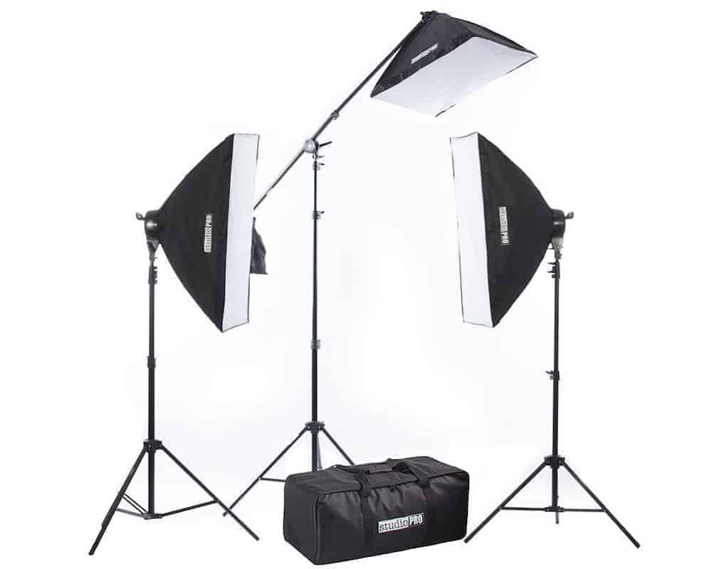 studiopro lighting kit review the 2500 watt studio softbox. Black Bedroom Furniture Sets. Home Design Ideas