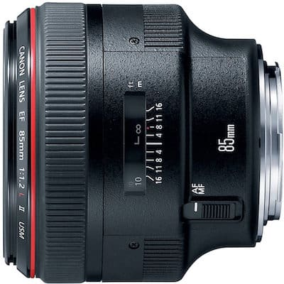 Best Portrait Lens for Canon Rebel: EF 85mm f/1.2L II USM