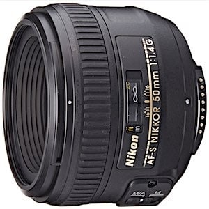 Nikon AF-S FX NIKKOR 50mm f/1.4G Lens with Auto Focus