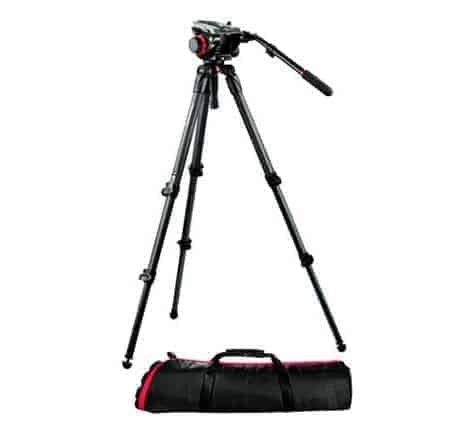 Manfrotto 504HD,535K Video Tripod Kit with 504HD Head and 535 Carbon Fiber Tripod (Black)