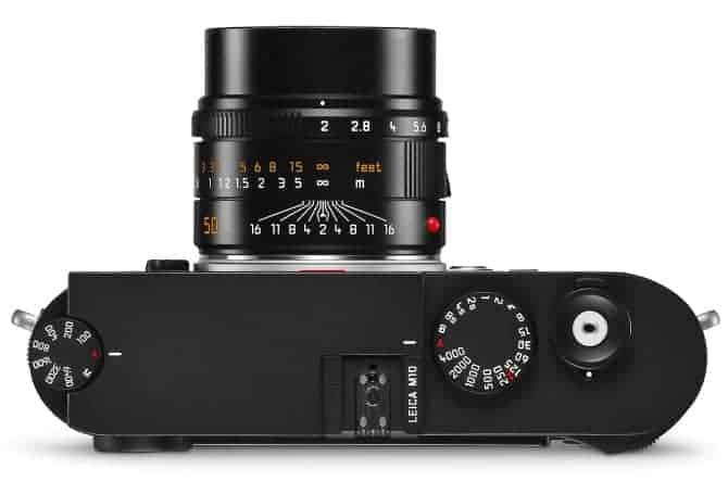 Leica M10 Top Dials and Lens