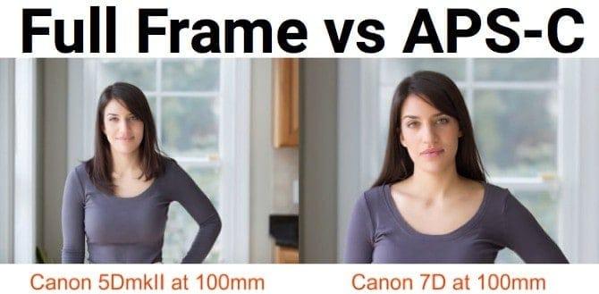Crop Sensor vs Full Frame DSLR Sensor Sample Image