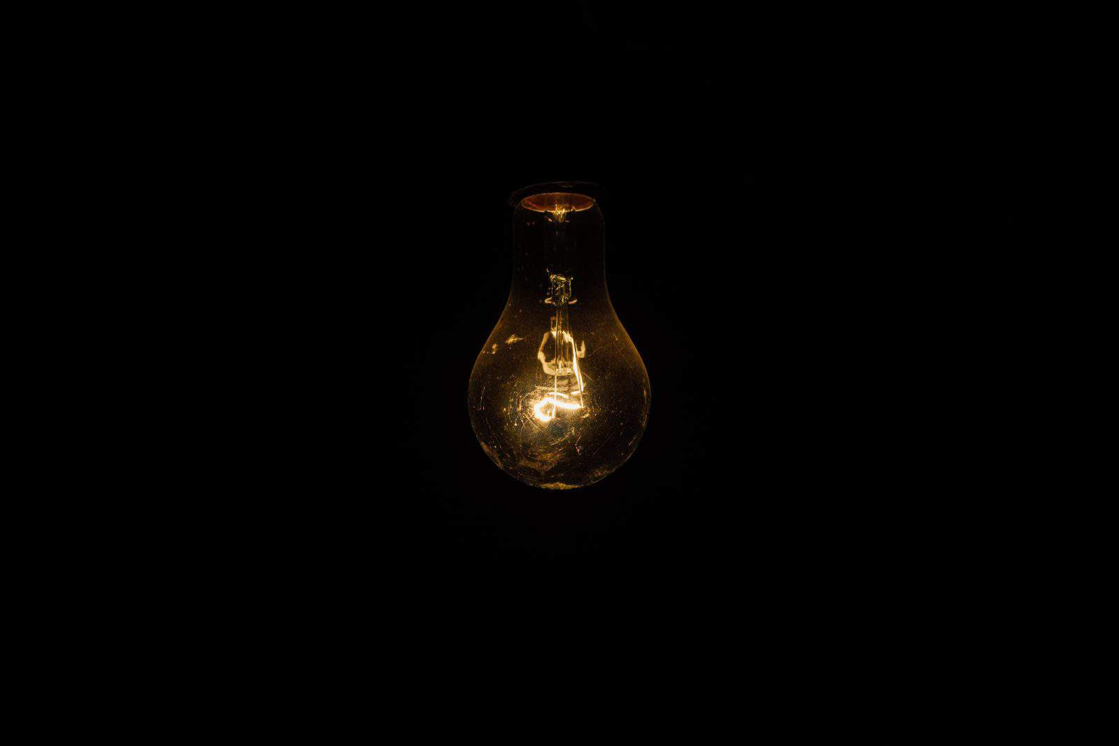 tungsten light bulb