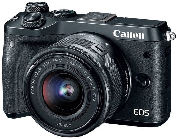 Canon EOS M6 (Black) EF-M 15-45mm f/3.5-6.3 IS STM Lens Kit