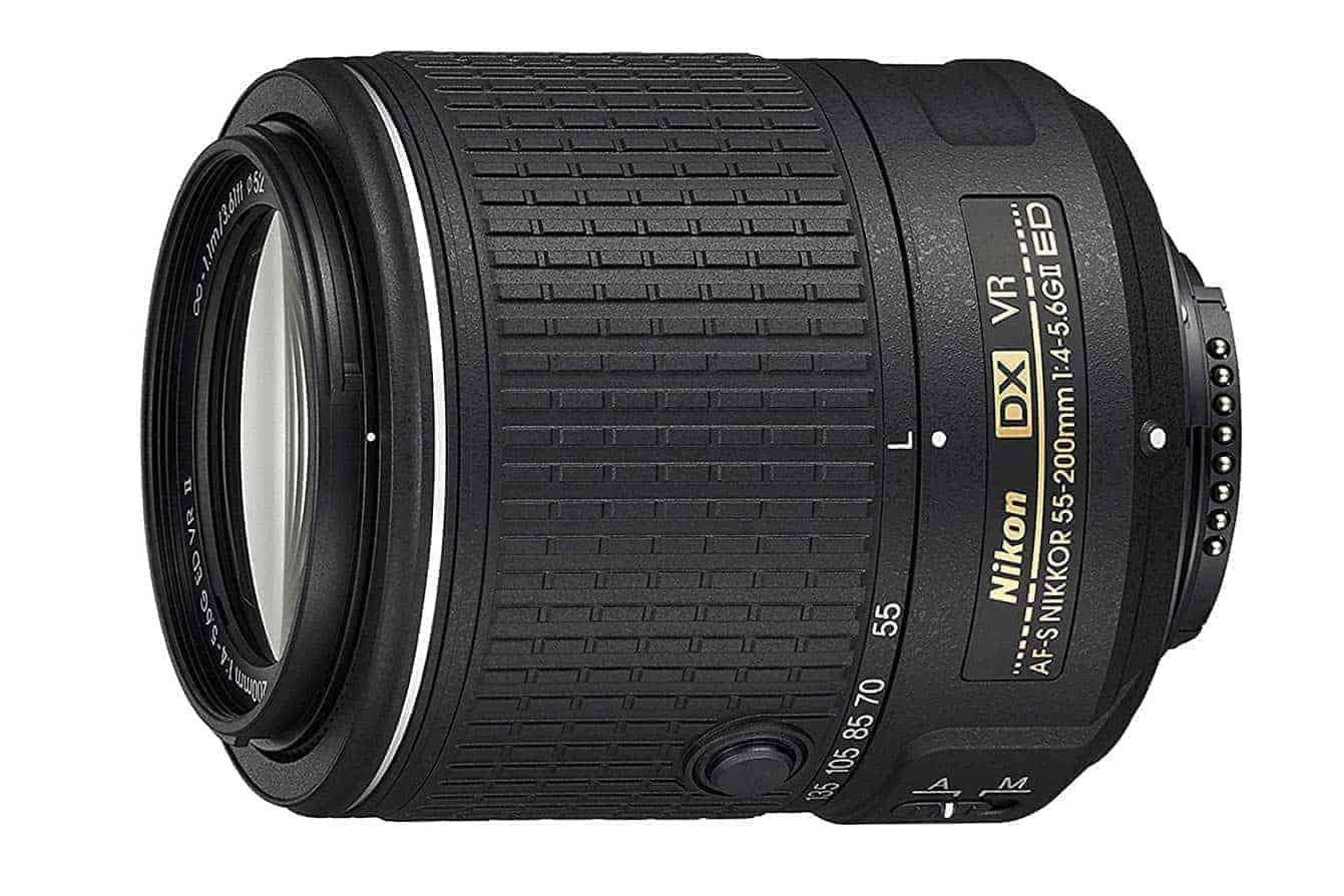Nikon AF-S DX NIKKOR 55-200MM f/4-5.6G ED Vibration Reduction II Zoom Lens with Auto Focus for Nikon DSLR Cameras