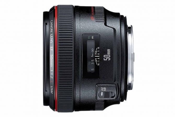 Canon EF 50mm f/1.2 lens