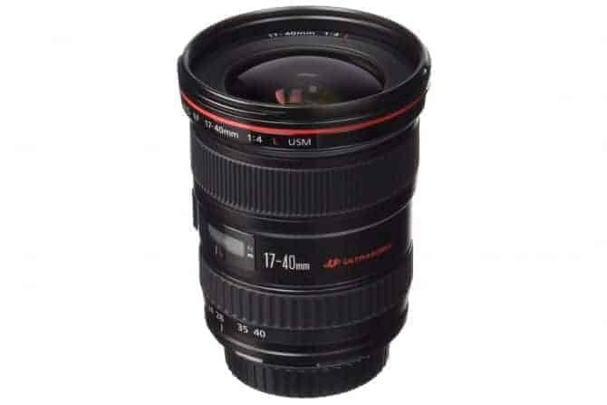 Canon EF 17-40 f/4-Llens