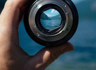 landscape through lens