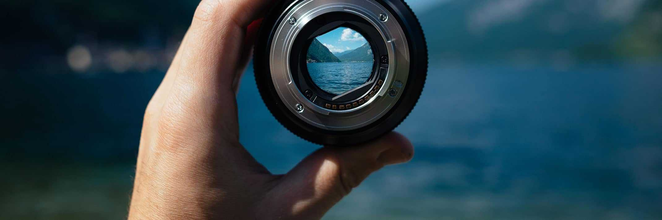 landscape through lens