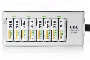 EBL 8 Bay Smart AA/AAA Battery Charger