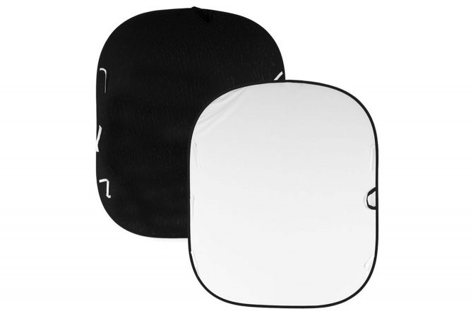 portable black and white reversible backgroud