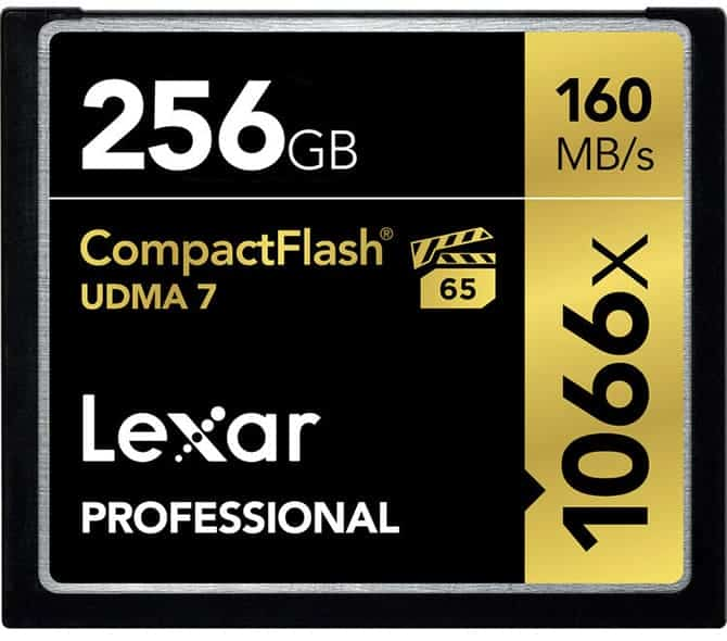 Compact Flash Card (Lexar Professional 256GB 1066x 160 MB/s=