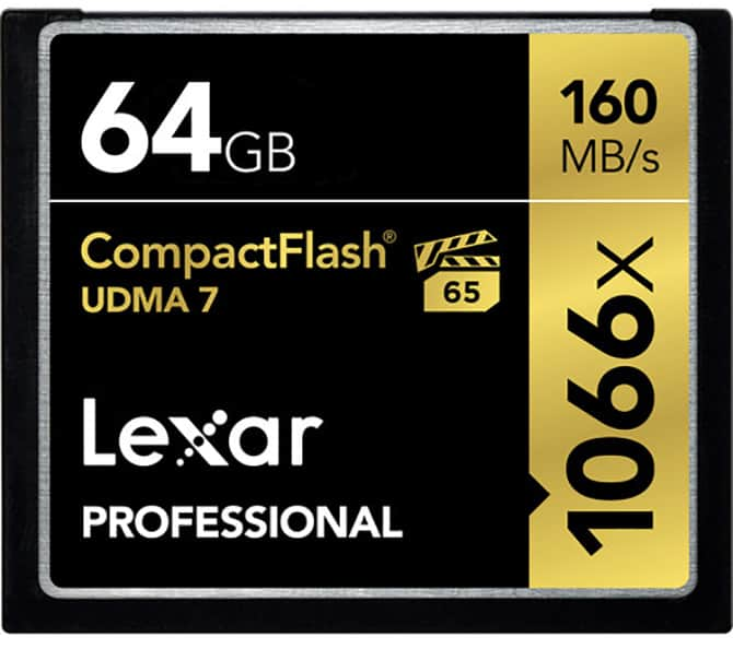 Compact Flash Card Lexar 64GB 1066x a Great CF Card