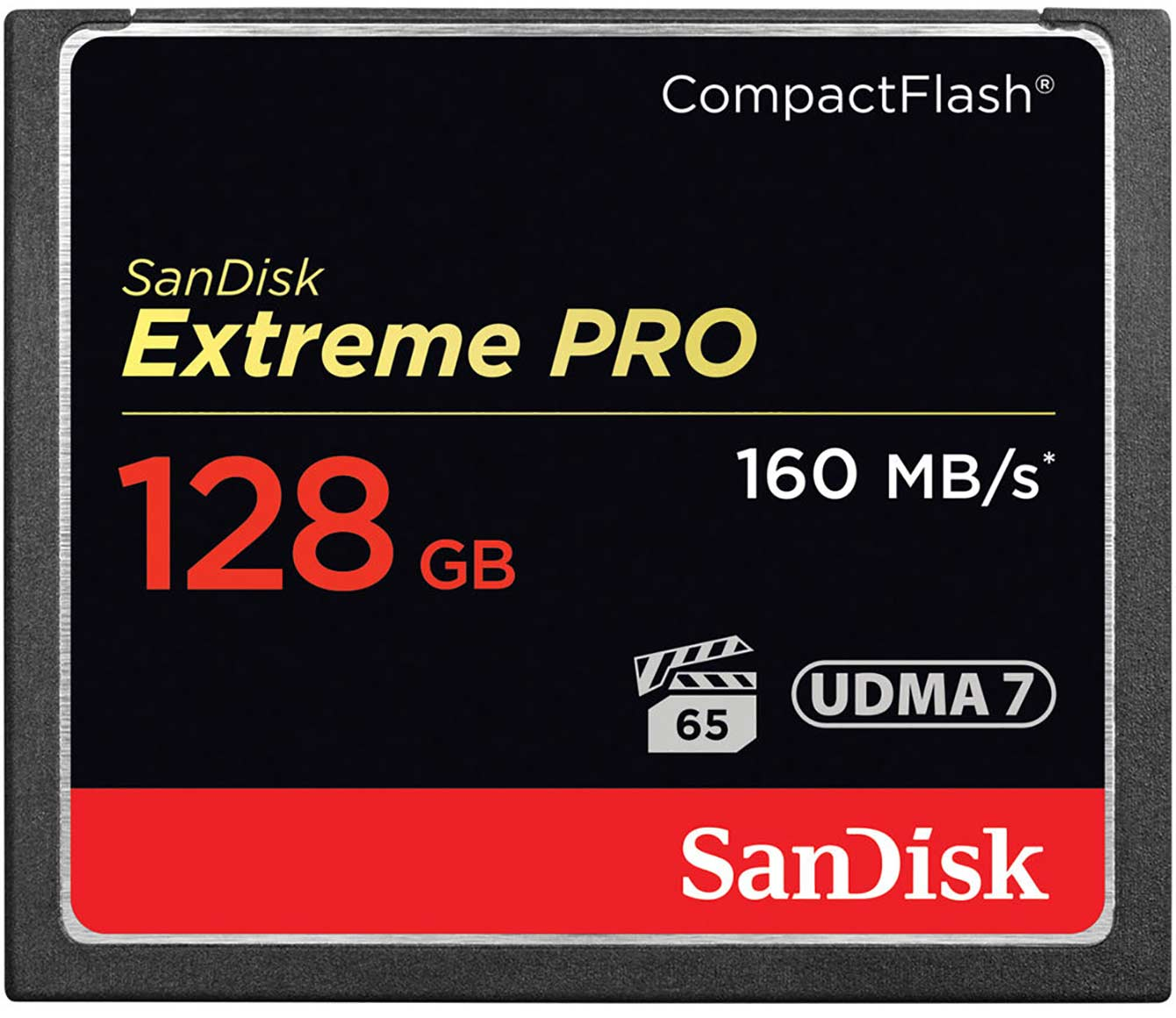 The Extreme Pro 128 GB Compact Flash Card