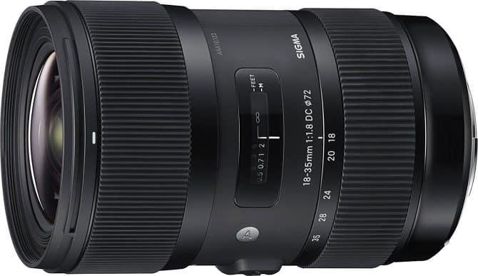 Best Lenses for Canon EOS 80D: Sigma 18-35mm f/1.8 DC HSM Art Lens