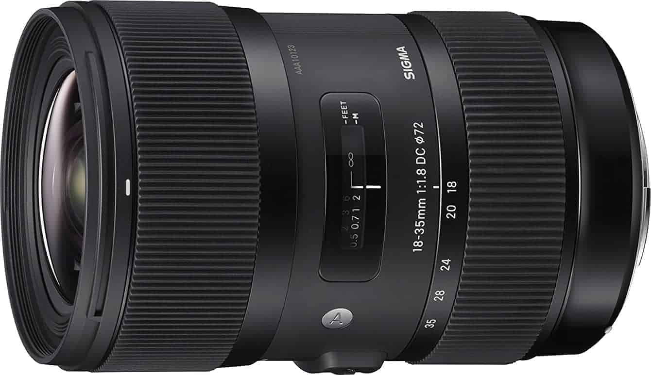 Best Lenses for Canon EOS 80D: Sigma 18-35mm f/1.8 DC HSM Art Lens