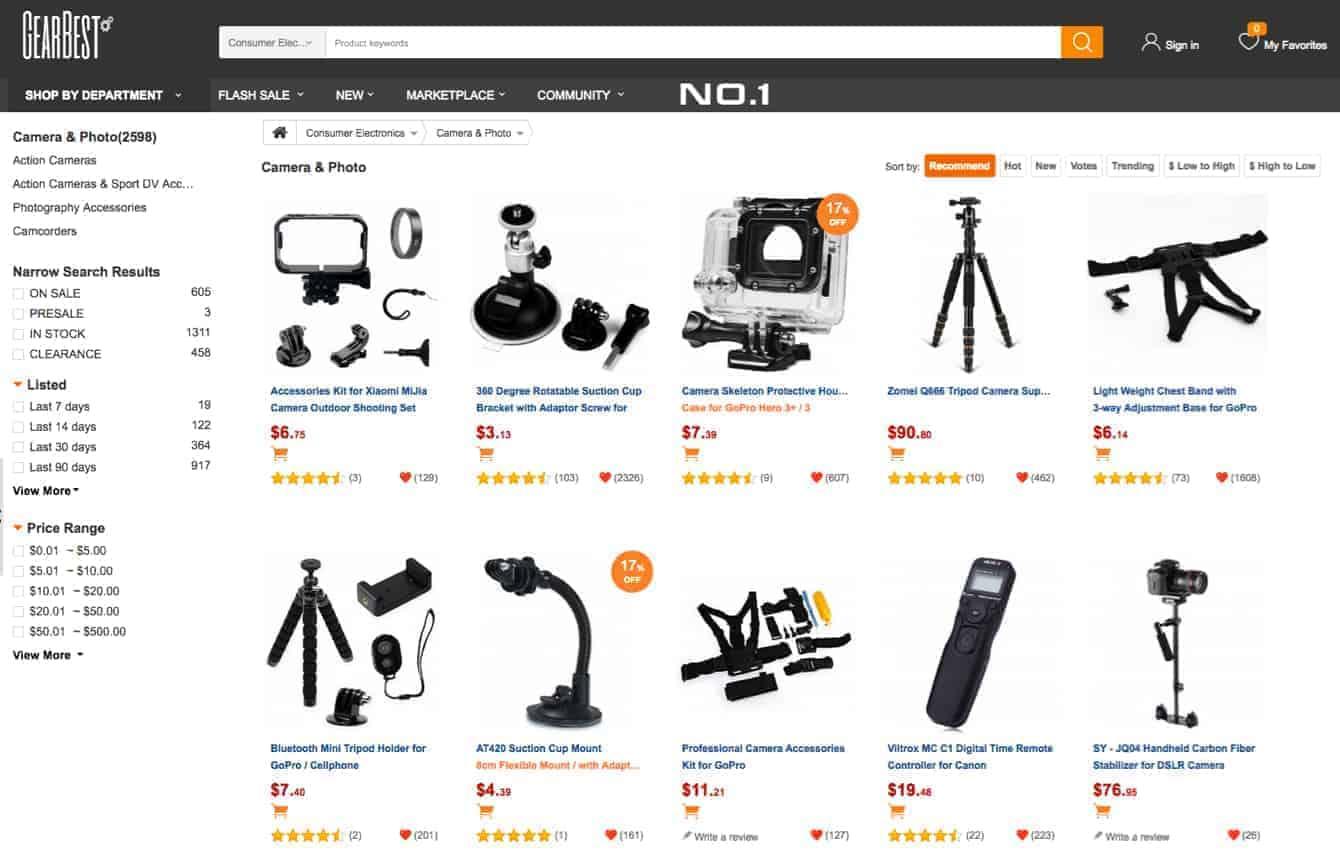 GearBest.com Photo Gear Deals