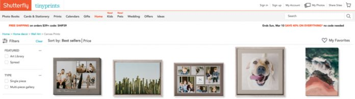 Shutterfly - another great printing service