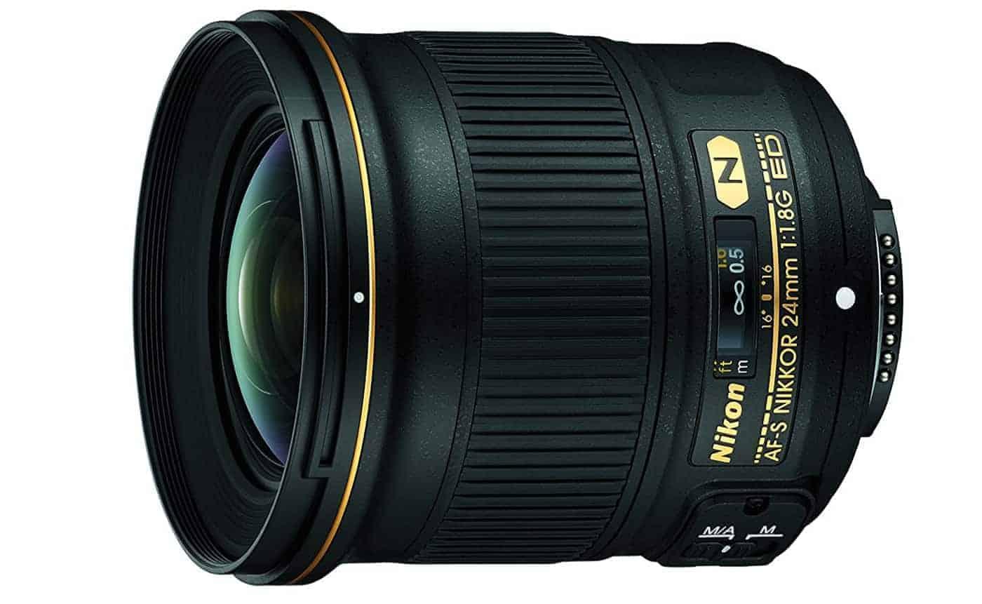 Nikon AF-S FX NIKKOR 24mm f/1.8G ED Fixed Lens with Auto Focus for Nikon DSLR Cameras