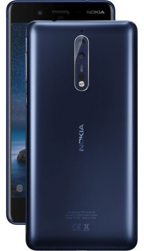 "Nokia 8 TA-1052 64GB Tempered Blue, Dual Sim, 5.4"", 4GB RAM"