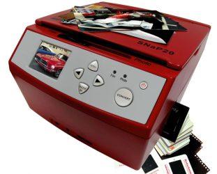 Another graet Slide Scanner: theWolverine SNAP20 20 Megapixels 35mm Slides Negatives and Photo to Digital Image Converter, Red