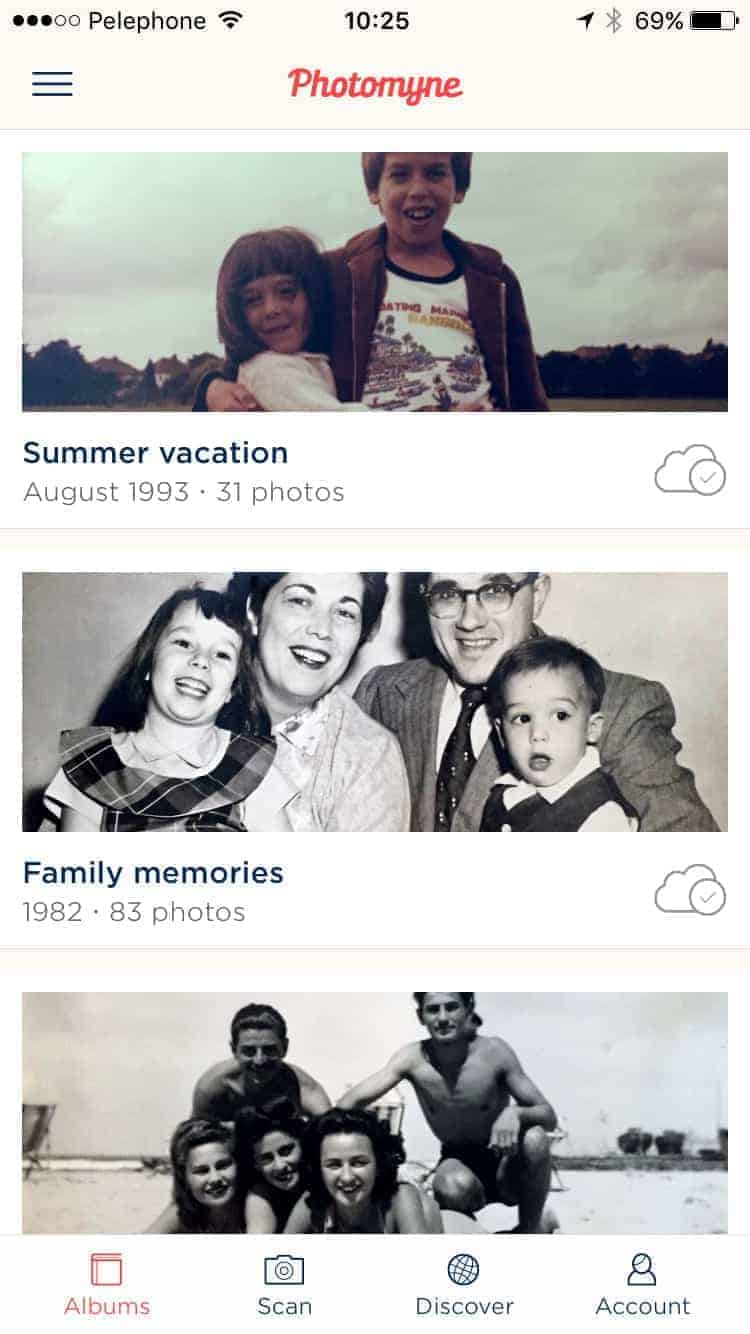 Scanned Photo Albums by Photomyne