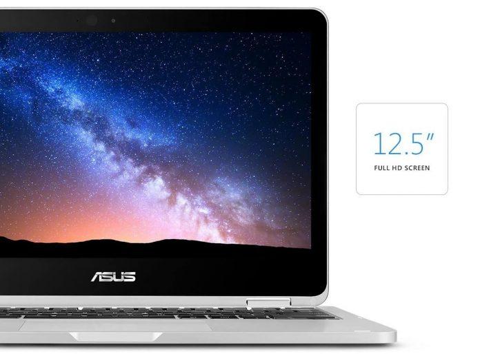 ASUS C302CA-DHM4 Chromebook Flip 12.5-inch Touchscreen Convertible Chromebook, Intel Core m3, 4GB RAM