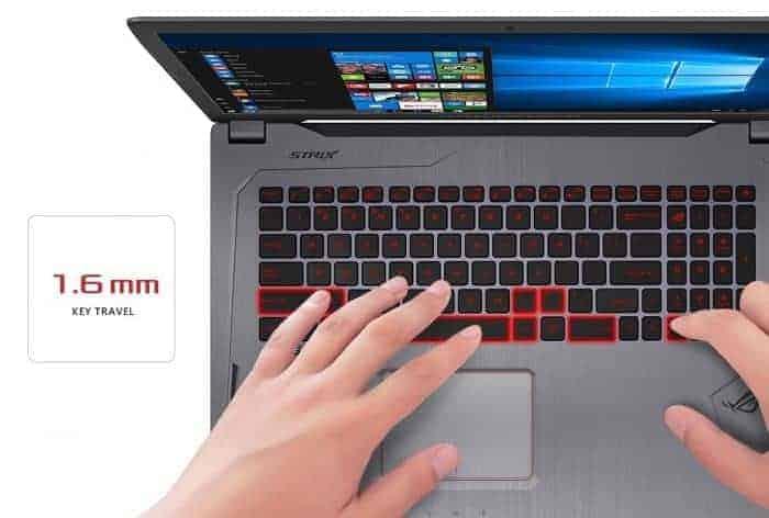 "ASUS ROG Strix GL702VS 17.3"" Full HD Ultra Thin and Light Gaming Laptop,75HZ G-SYNC Display, GeForce GTX 1070 8GB, Intel i7-7700HQ 2.8 GHz, 12GB DDR4 RAM, 128GB SSD + 1TB 7200 rpm HDD"