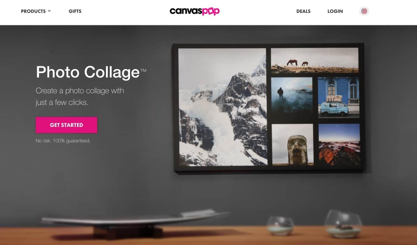Best Collage Photo Printing Service CanvasPop