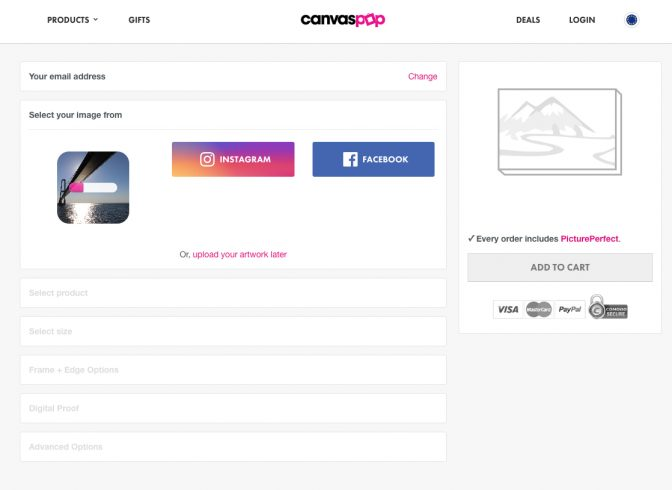 CanvasPop Uploading Image: Order Process Review