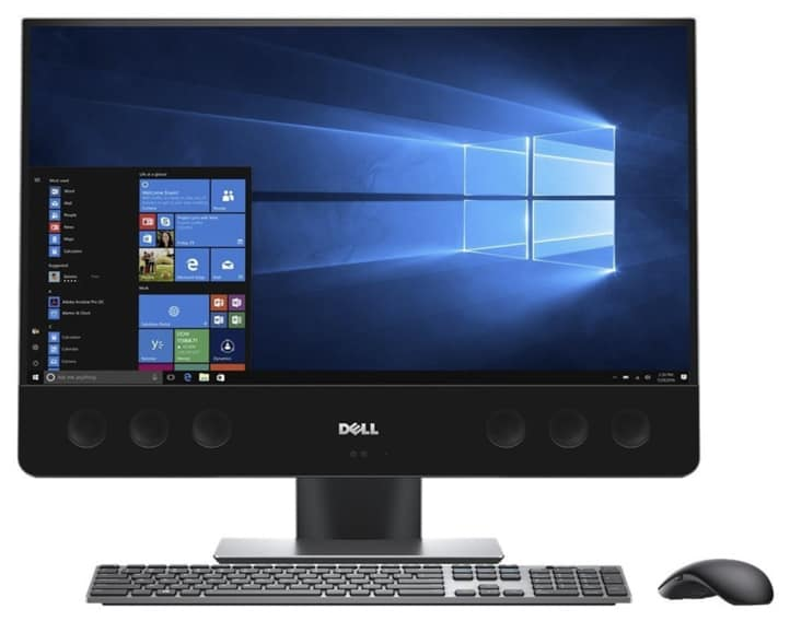 """Dell XPS7760 27"""" Ultra HD 4k TouchScreen All-In-One PC, (7th Gen Core i7 (up to 3.60 GHz), 16GB, 2TB HDD + 32GB SSD, AMD Radeon RX-570 Graphics, Black."""