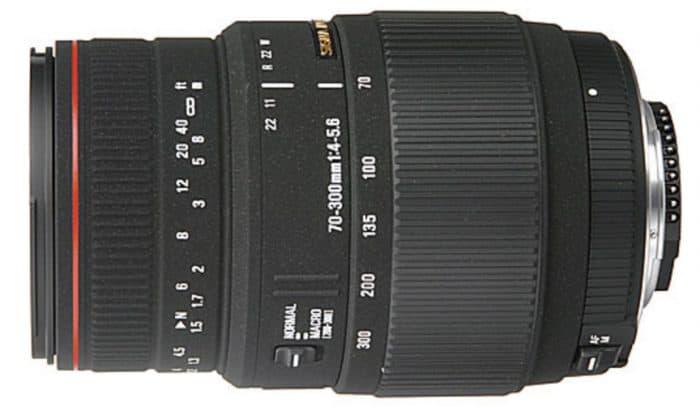Sigma 70-300mm f/4-5.6 DG APO Macro Motorized Telephoto Zoom Lens for Nikon SLR Cameras