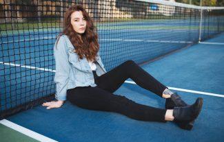 Portrait Photo on the Tennis Court
