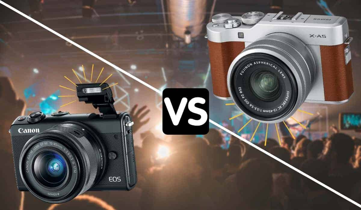 Canon EOS M100 Mirrorless vs. Fujifilm X-A5 Mirrorless Camera