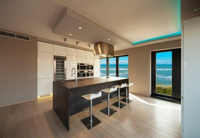 HDR and Real Estate Photography: Interiors of a modern apartment with sea view