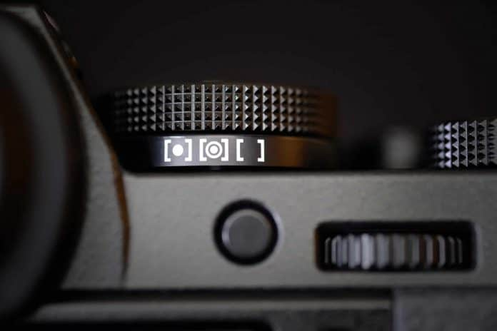 Metering Modes Dial on a Digital Camera