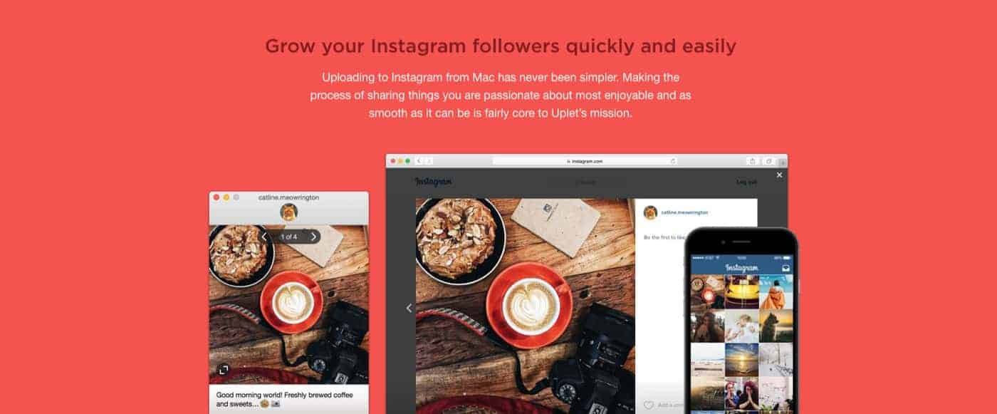 Uplet - Grow your Instagram followers quickly and easily from your Mac