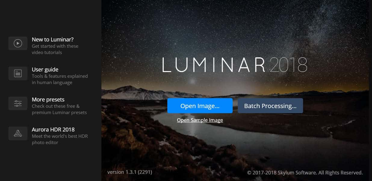 Luminar batch processing
