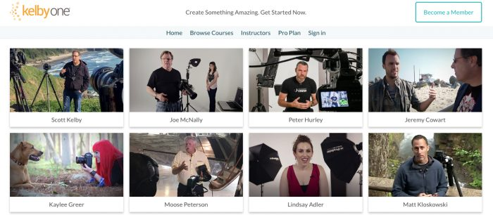 KelbyOne Photography Courses - Some courses are are free to access.