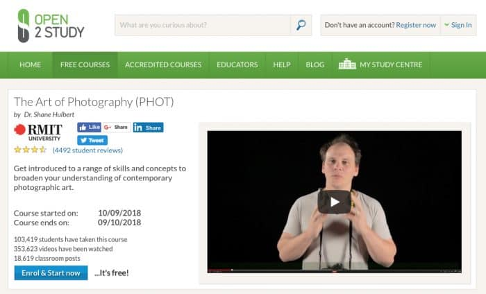 The Art of Photography (PHOT)