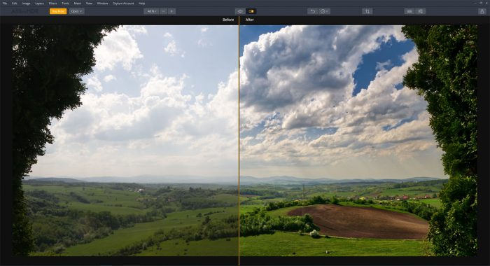 HDR photo editor sample