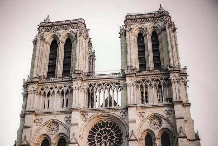 Notre-Dame Cathedral two towers before fire