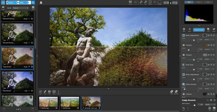 Topaz Studio Review - split view panel