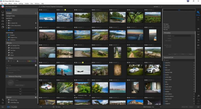 ON1 Photo RAW 2019 Review - layout