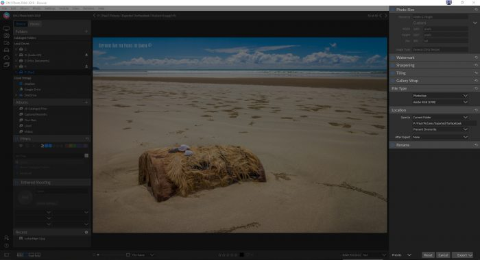 ON1 Photo RAW 2019 Review - exporting