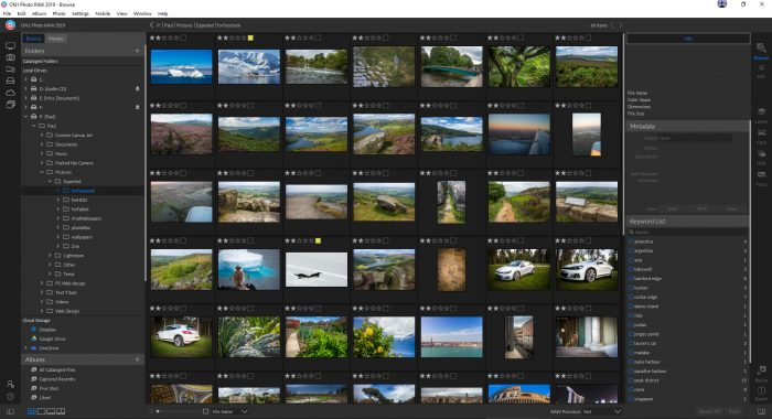 ON1 Photo RAW 2019 Review - folder navigation