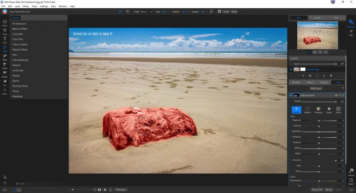 ON1 Photo RAW 2019 Review - Local Adjustment tool